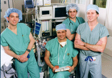 team of neuro-anesthesiologists