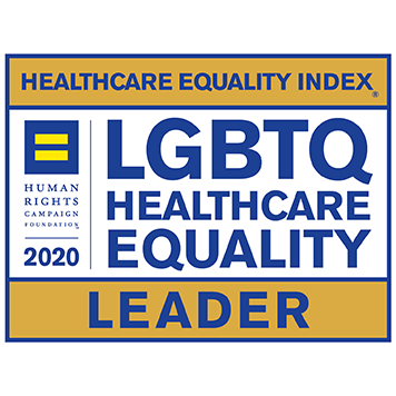 LGBTQ HealthCare Equality Leader Award Logo