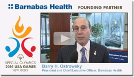 Watch video: Barnabas Health kicks off the 2014 Special Olympics USA Games