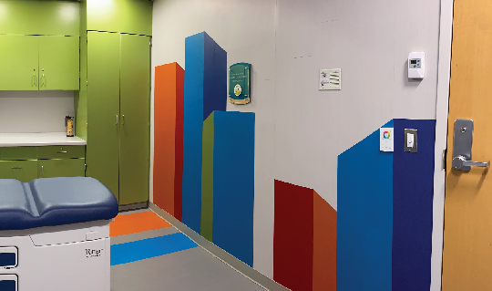 The new hematology-oncology treatment room at The Bristol-Myers Squibb Children's Hospital