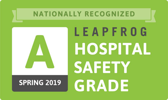 Leapfrog Hospital Safety Grade Spring 2019 Logo