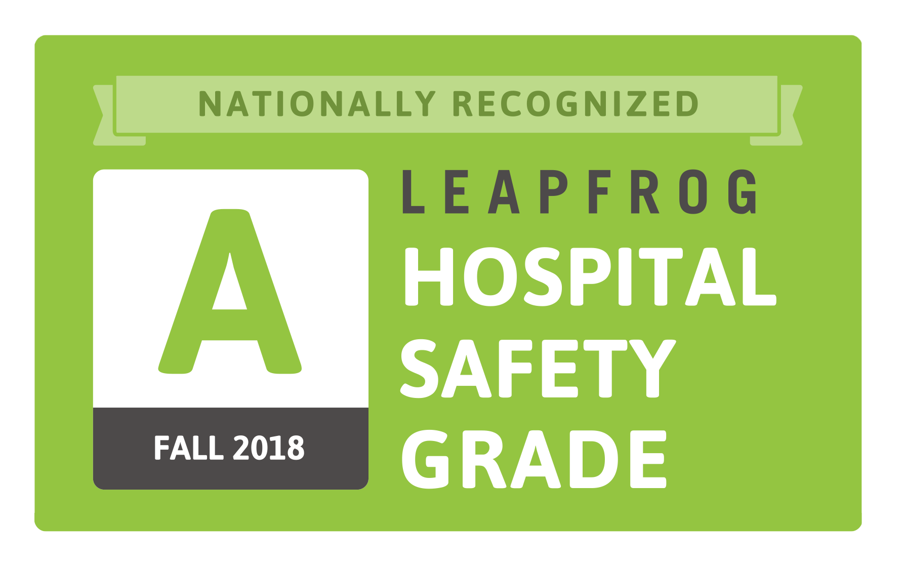 Nationally Recognized Leapfrog Hospital Safety Grade