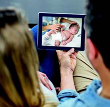 AngelEye technology allows parents to watch and talk to their baby