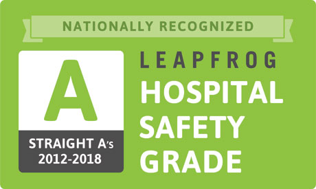 Nationally Recognized Strait As 2012-2018 Leapfrog Hospital Safety Grade