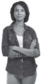 Woman smiling with her arms crossed