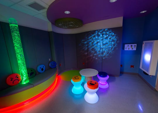 Pediatric Emergency Department Sensory Room at RWJUH