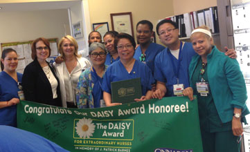 Jersey City Medical Center April 2015 Daisy Award Winner