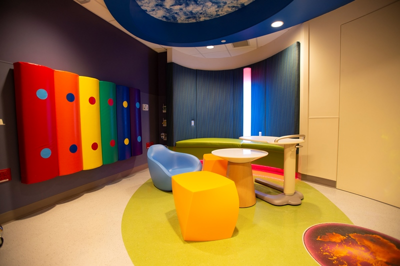 Sensory Room in the Emergency Department at RWJUH New Brunswick