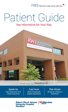 Patient Guide for RWJ University Hospital at Hamilton NJ