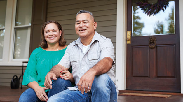 Healing Homes Program - Couple on the porch