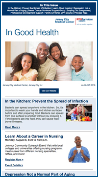 Newsletter Sign Up | Jersey City Medical Center