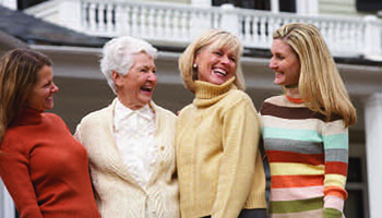 3 generations of women smiling