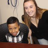 Four-year-old Aden Supe has regained his health thanks to a kidney from Samantha Donnelly, an RWJUH employee.