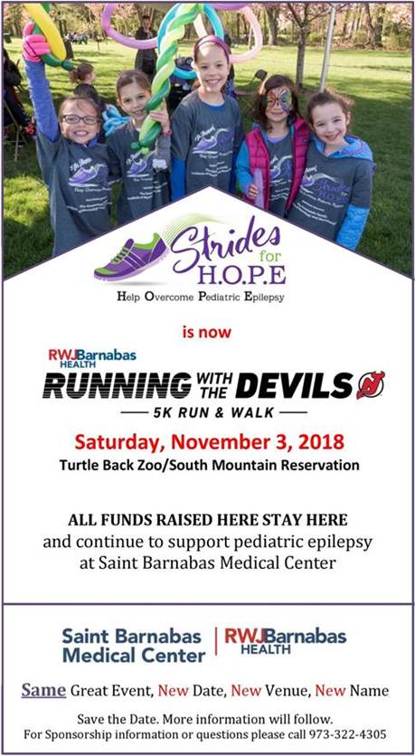 Running With The Devils, Strides for H.O.P.E.