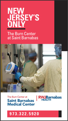 The Burn Center at Saint Barnabas brochure